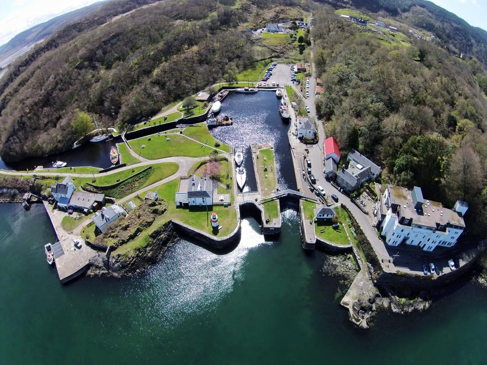 Crinan Canal Sea Lock from the air